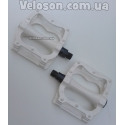 Алюминиевые широкие педали топталки белые