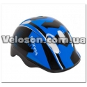 Шлем велосипедный HEL102 черно-синий детский