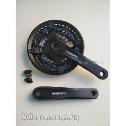 Тормоза вибрейки V-brake черные алюминиевые комплект с колодками и болтами