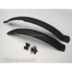 Педали алюминиевые FPD велосипедные комплект серебристые
