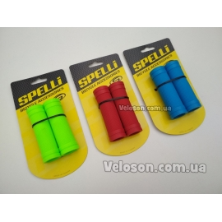 Ручки руля грипсы 90 мм фирмы SPELLI SBG-660S прямые  круглые, изготовлены из качественного резино-каучукового материала