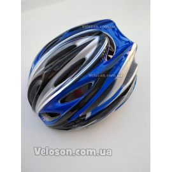 Шлем велосипедный легкий из плотного пенопластного материала Синий
