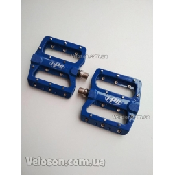 Педали FPD 393 синие алюминиевые со съемными шипами топталки