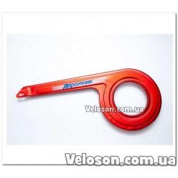 Флягодержатель белый алюминиевый DC-F03 усиленный