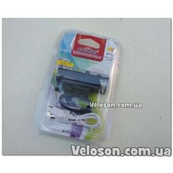 Фара USB с аккумулятором  черная мод ELF-19-1