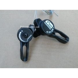 Манетки переключатели Shimano TZ20 3*6 скоростей черные комплект