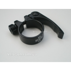 Зажим трубы сидения UNO Ø31,8мм (алюминиевой рамы) c эксцентриком черный