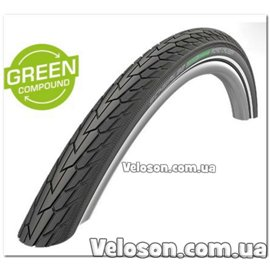 Покришка Schwalbe Road Cruiser 28x1.25. 700x32C (32-622) Active. GREEN. K-Guard TwinSkin B/B