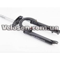 """Подножка боковая задняя телескопическая для 24""""- 29"""", крепление под 2 болта за перо рамы черная HS-007C Китай"""