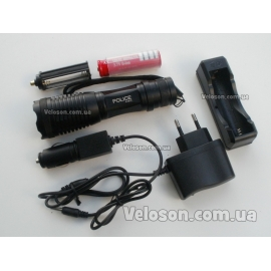 Тактический фонарик Police BL-1837-T6 + аккумулятор 4800 mAh + зарядное устройство