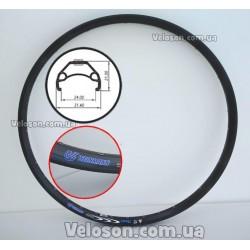 Руль диаметром под вынос 31.8 мм ELEMENT 720 мм чёрный алюминий