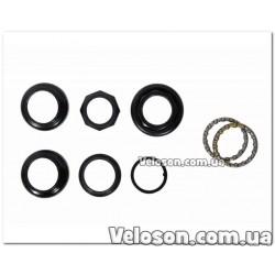 Тормоза Sypo V-brake вибрейки черные алюминиевые комплект с колодками и болтами 120 мм